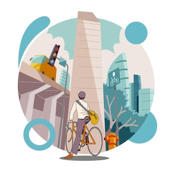 Andando de bicicleta para o trabalho