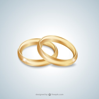 Anéis de casamento do ouro
