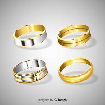 Anéis de casamento realistas
