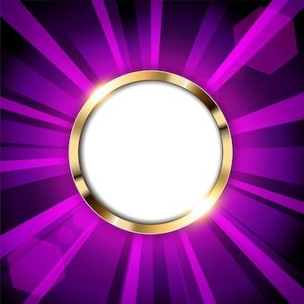Anel de ouro metálico