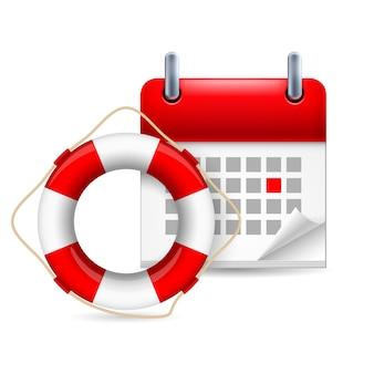 Anel e calendário de flutuação