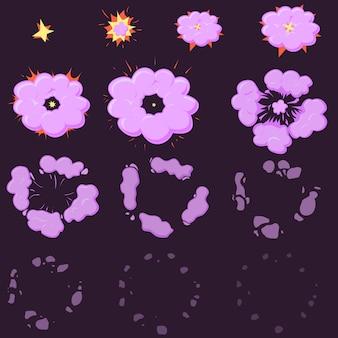 Animação de efeito night explode