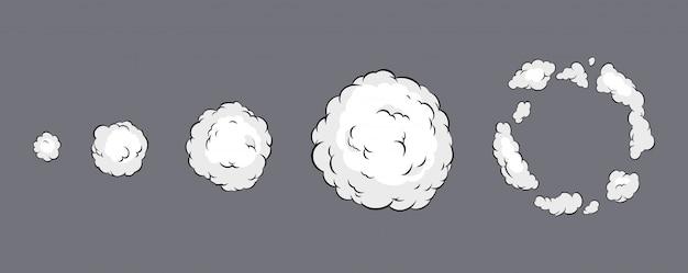 Animação de explosão de fumaça