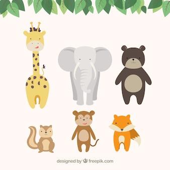 Animais bonitos dos desenhos animados