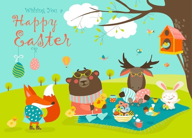 Animais celebrando a páscoa