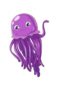 Animais de desenhos animados bonitos e engraçados de gelatina