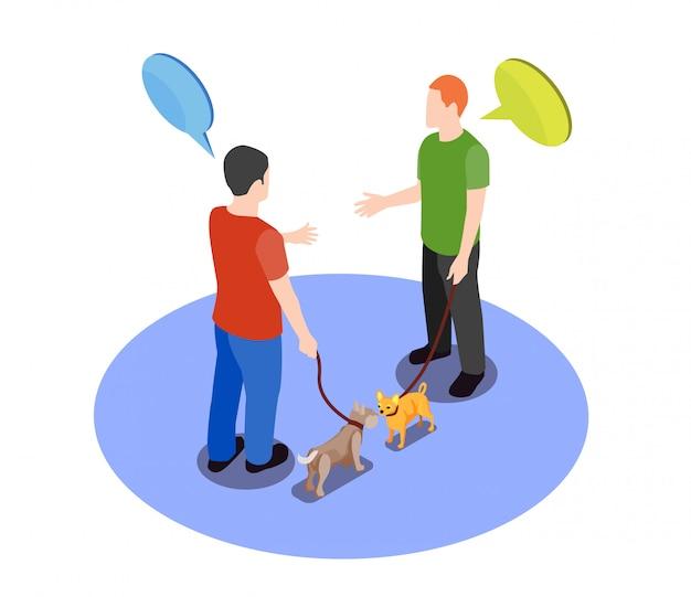 Animais de estimação amados com proprietários
