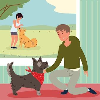 Animais de estimação e pessoas