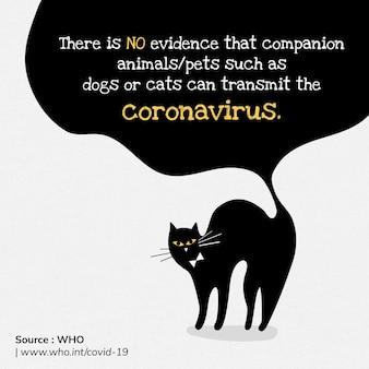 Animais de estimação não podem transmitir vetor da oms de fonte de modelo social de coronavírus