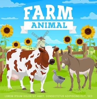 Animais de fazenda, agricultura, jardinagem e agricultura
