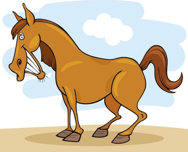 Animais de fazenda cavalo