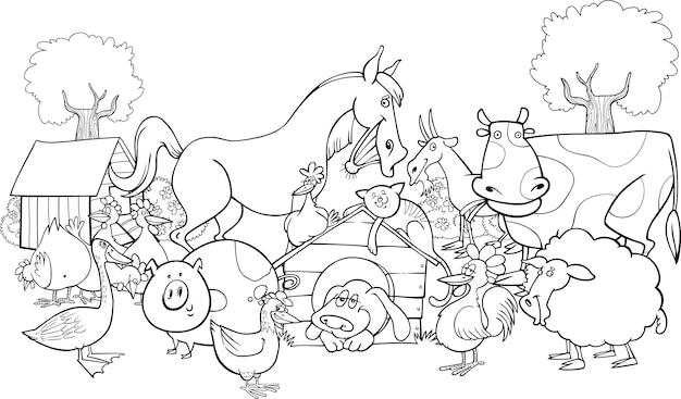 Animais de fazenda para colorir