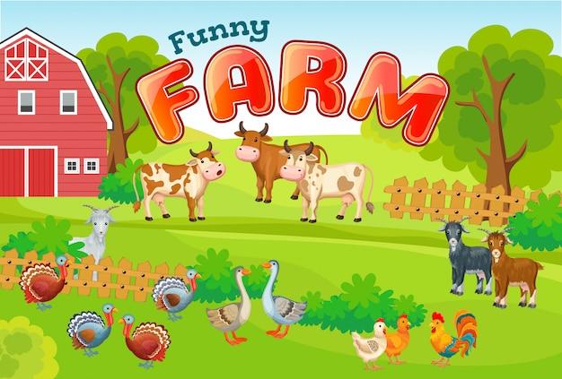 Animais de fazenda.