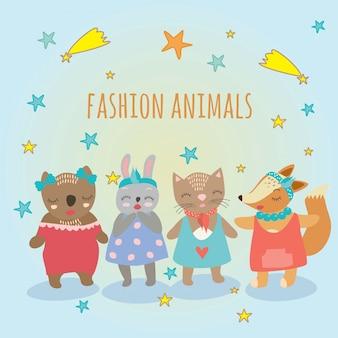 Animais de moda