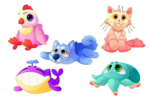 Animais de pelúcia, brinquedos macios engraçados para crianças