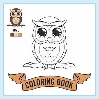 Animais do livro de desenhos de coruja