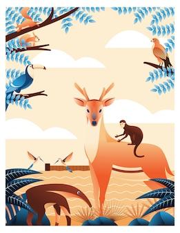Animais e floresta