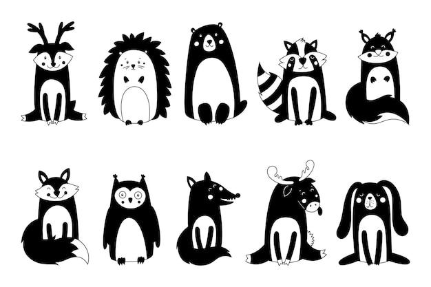Animais fofos da floresta