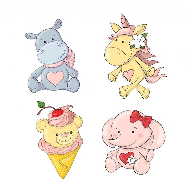 Animais fofos de desenhos animados para bebê