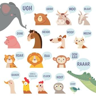 Animais fofos fazendo sons