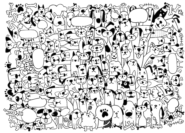 Animais gatos e cachorros