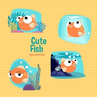 Animais marinhos de peixe bonito