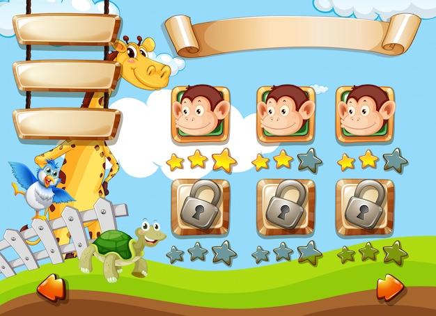 Animais no modelo de jogo