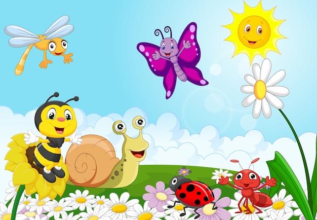 Animais pequenos dos desenhos animados
