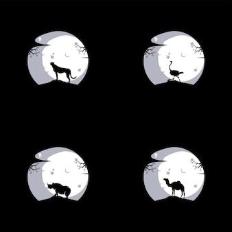 Animais selvagens de ilustração vetorial