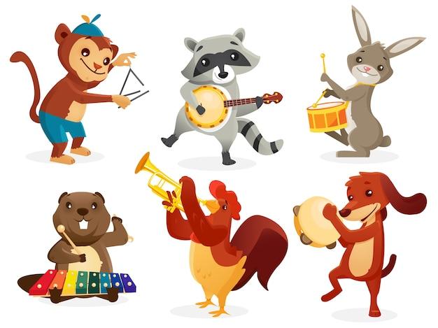 Animais tocando instrumentos