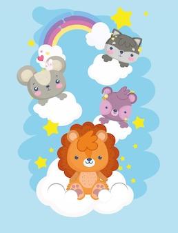 Animaizinhos nas nuvens
