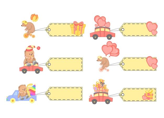 Animal bonito. personagens de desenhos animados. ilustração vetorial