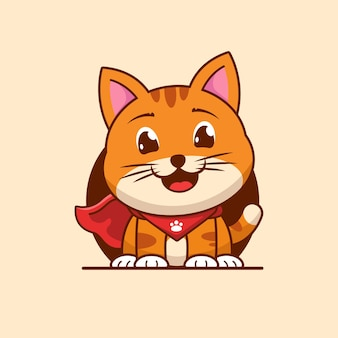 Animal cat hero cartoon