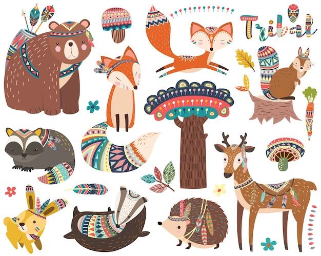Animal com elementos tribais étnicos