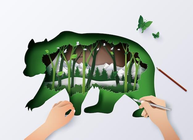 Animal da vida selvagem mundial