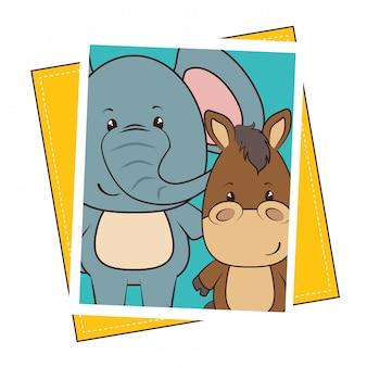 Animal de estimação e animais engraçado dos desenhos animados