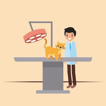 Animal de estimação e veterinário