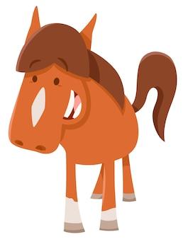 Animal de fazenda bonito puma horsepr