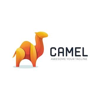 Animal de logotipo camelo gradiente de cor moderna