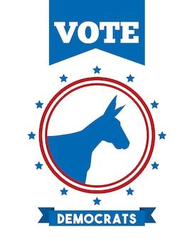 Animal de partido político democrata