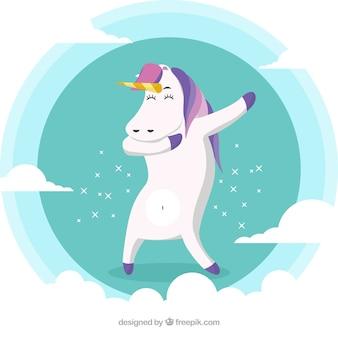 Animal engraçado fazendo movimento dabbing