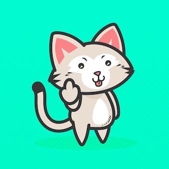 Animal fofo mostrando símbolo de foda-se