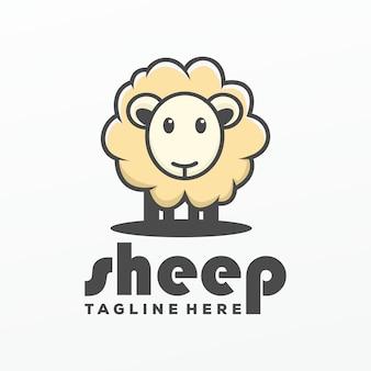 Animal logotipo de ovelhas