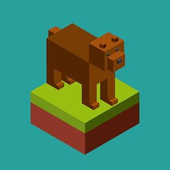 Animal no design de pixels