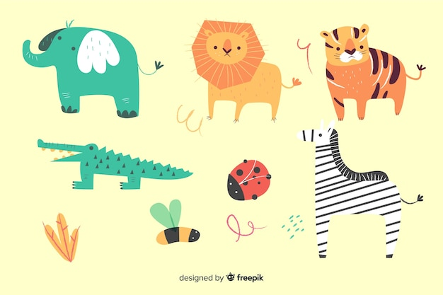 Animal pack no estilo infantil