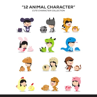 Animal personagem fofa