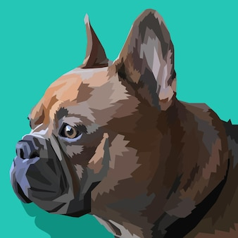 Animal print bulldog francês em cores pop art isoladas