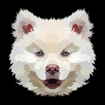 Animal print dog pop art retrato pôster design