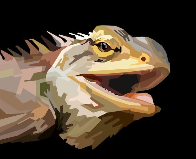 Animal print iguana camaleão lagarto pop art pronto para imprimir decoração isolada design de pôster