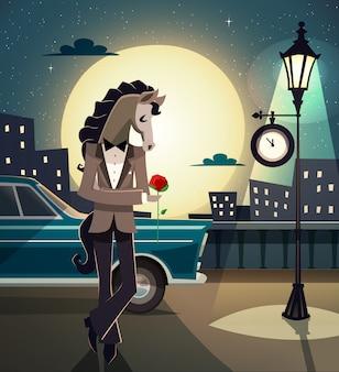 Animal romântico hipster